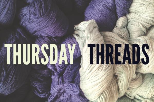 purple and white yarn