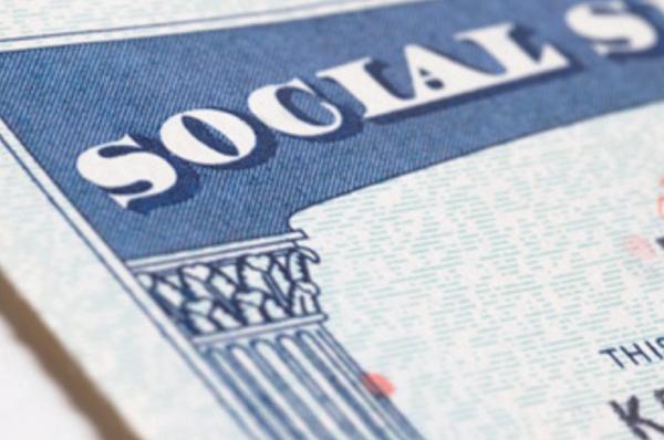 corner of a social security card