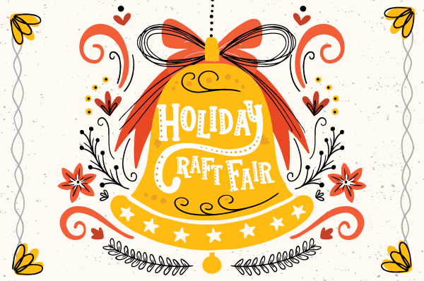 bell with holiday craft fair text