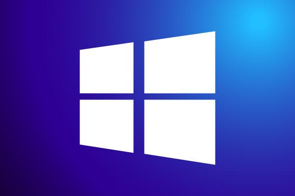 windows logo on a blue background
