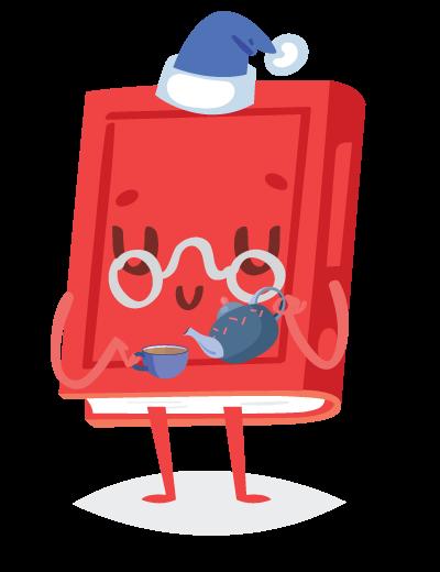 book pouring tea
