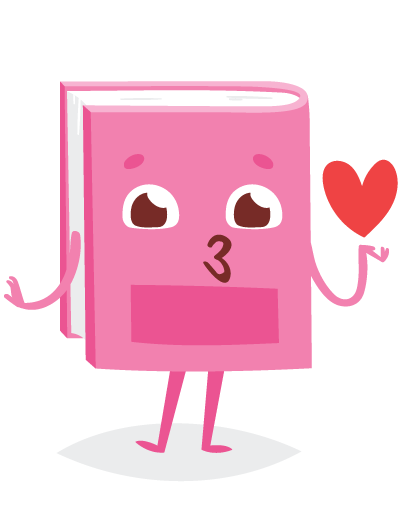book blowing kiss heart